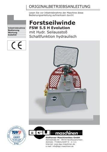 Bedienungsanleitung - BGU Maschinen