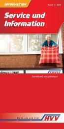 Service und Information Service und Information - HVV