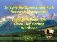 Integrating Science and Park Resource Management Highlights ...
