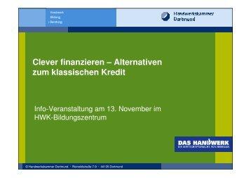 Weitere Finanzierungsformen 1 - Handwerkskammer Dortmund