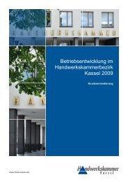 Betriebsentwicklung im Handwerkskammerbezirk Kassel 2009