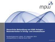 Steuerliche Behandlung Von KWK-Anlagen Besonderheiten In Ertrag