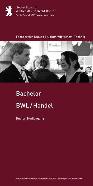 BWL / Handel Bachelor - Hochschule für Wirtschaft und Recht Berlin