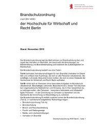Brandschutzordnung - Hochschule für Wirtschaft und Recht Berlin