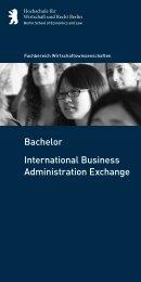 Bachelor International Business Administration Exchange