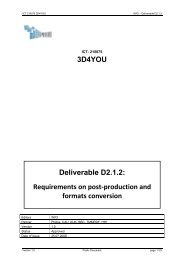 3D4YOU Deliverable D2.1.2: Requirements on ... - Hitech Projects