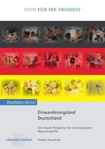 Einwanderungsland Deutschland - Eine liberale - HWWI