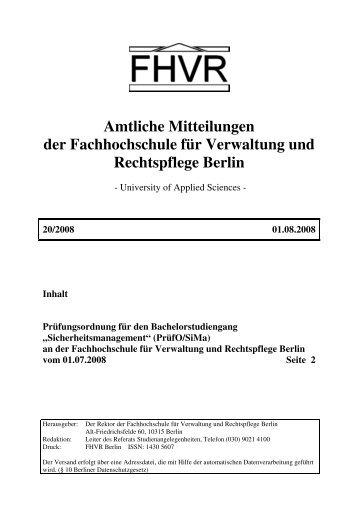 PrO SiMa.pdf, Seite 2 - Hochschule für Wirtschaft und Recht Berlin