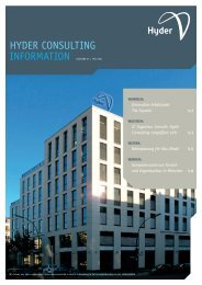 Hyder Consulting Information Ausgabe 07 | Mai 2011