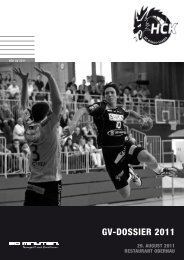 GV-Dossier 2011 - HC Kriens-Luzern