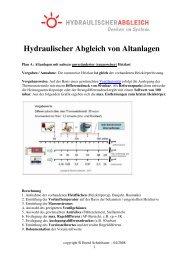 Hydraulischer Abgleich von Altanlagen