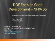 DOE Enabled Code Development - DOE Hydrogen and Fuel Cells ...