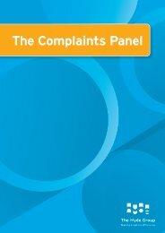 The Complaints Panel - Hyde Housing Association