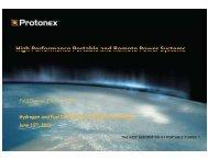 Protonex - DOE Hydrogen and Fuel Cells Program Home Page