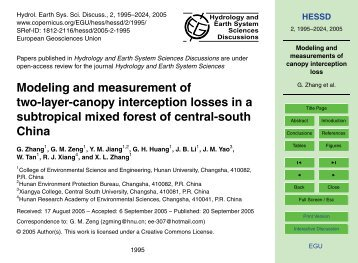 Modeling and measurements of canopy interception loss - hessd  sc 1 st  Yumpu & Modeling Light Interception and Transpiration of Apple Tree Canopies
