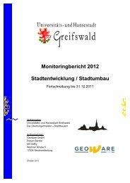 Monitoringbericht 2012 - Hansestadt Greifswald