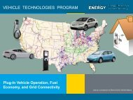 vehicle technologies program - DOE Hydrogen and Fuel Cells ...
