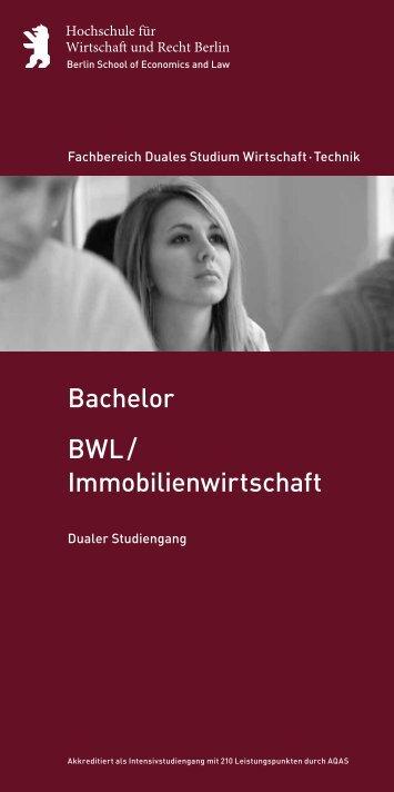 BWL / Immobilienwirtschaft Bachelor - Hochschule für Wirtschaft und ...