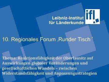 10. Regionales Forum 'Runder Tisch' - Hypertransformation