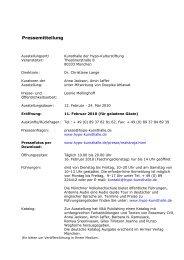 Pressemitteilung - Kunsthalle der Hypo-Kulturstiftung