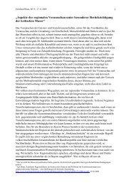 """""""Aspekte der regionalen Vorausschau unter besonderer ..."""