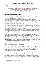 Hypnose Institut Phoenix Montevideo Modul 9 Nonverbale ...