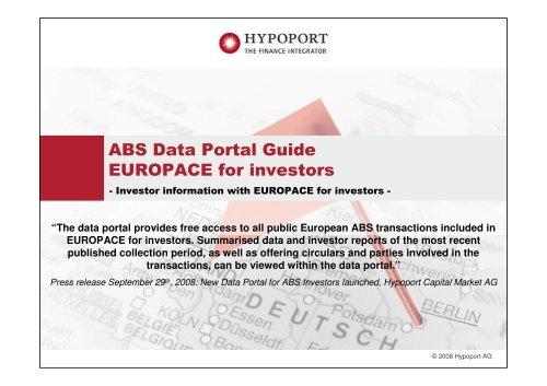 ABS Data Portal Guide final - Hypoport AG