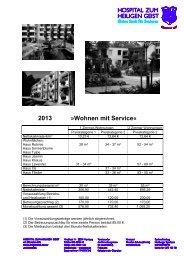 2013 »Wohnen mit Service«