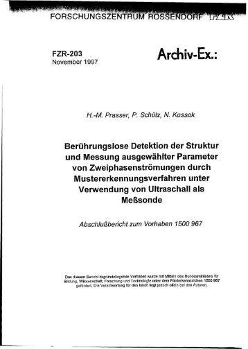 Archiv-Ex.: - HZDR
