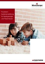 Porotherm Systemempfehlung für Niedrigenergie- und Passivhäuser