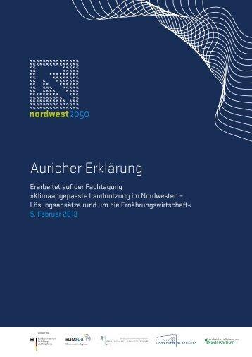 Auricher Erklärung - NordWest2050