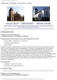 """""""Heilig Geist – Christkönig – Unsere Kirche"""" xx-2012"""
