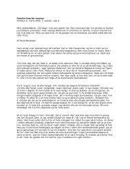 Familie frem for eventyr Politiken 6. marts 2005, 3. sektion, side 8 ...