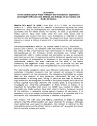 Statement Of the International Press Freedom and Freedom of ...