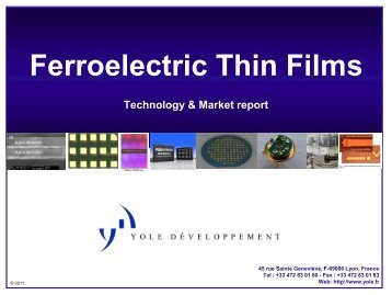 Ferroelectric thin films market report - I-Micronews