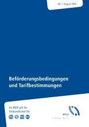 Beförderungsbedingungen und Tarifbestimmungen - HEX