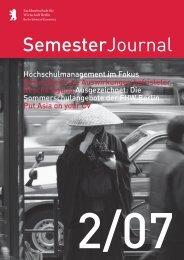 SemesterJournal 2/07 - MBA Programme der HWR Berlin