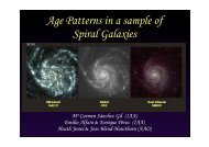 Age Patterns in a sample of Spiral Galaxies