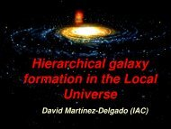 Hierarchical Galaxy formation in the Local Universe