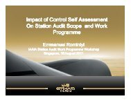 Impact of Control Self Assessment On Station Audit Scope and Work ...