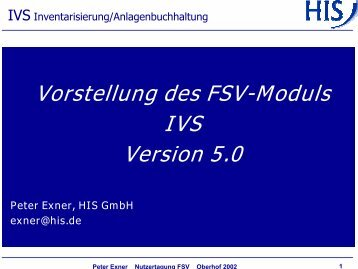 IVS Inventarisierung/Anlagenbuchhaltung