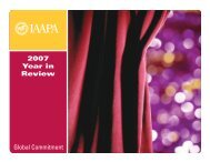 2007 Year in Review Global Commitment - IAAPA