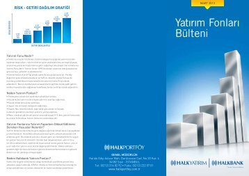 2013 Mart Yatırım Fonları Bülteni - Türkiye Halk Bankası