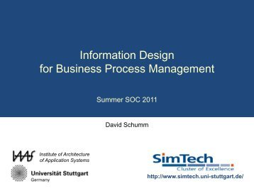 Information Design for Business Process Management - IAAS