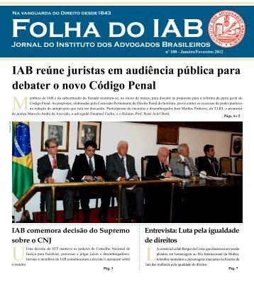 Acesse a íntegra - Instituto dos Advogados Brasileiros