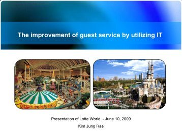 Effectively Managing Theme Parks Utilizing Information ... - IAAPA