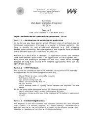 Exercises Web-Based Application Integration WS 2010 ... - IAAS