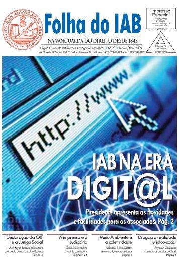 Edição 93 - Março/Abril - Instituto dos Advogados Brasileiros