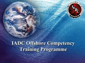 IADC Offshore Competency Training Programme