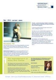 career news Mai 2011 - Hochschule Ingolstadt